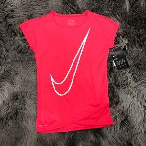 Nike | Girls Pink Short Sleeved T-Shirt | Size 5